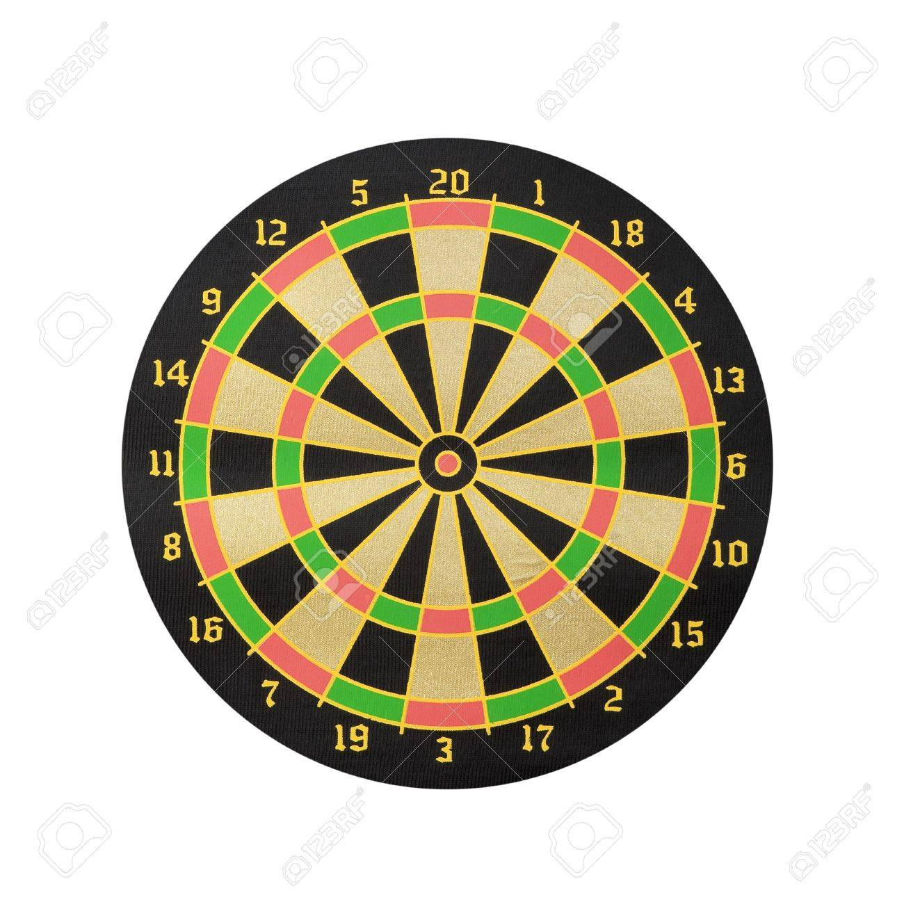 Dart board isolated on white background - front view Stock Photo - 5269262