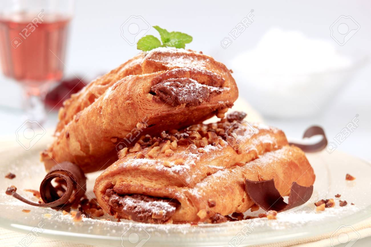Sweet rolls with chocolate filling Stock Photo - 6575759