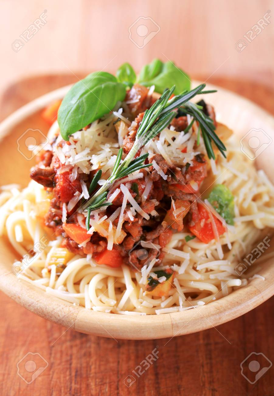 Spaghetti Alla Bolognese Stock Photo Picture And Royalty Free Image