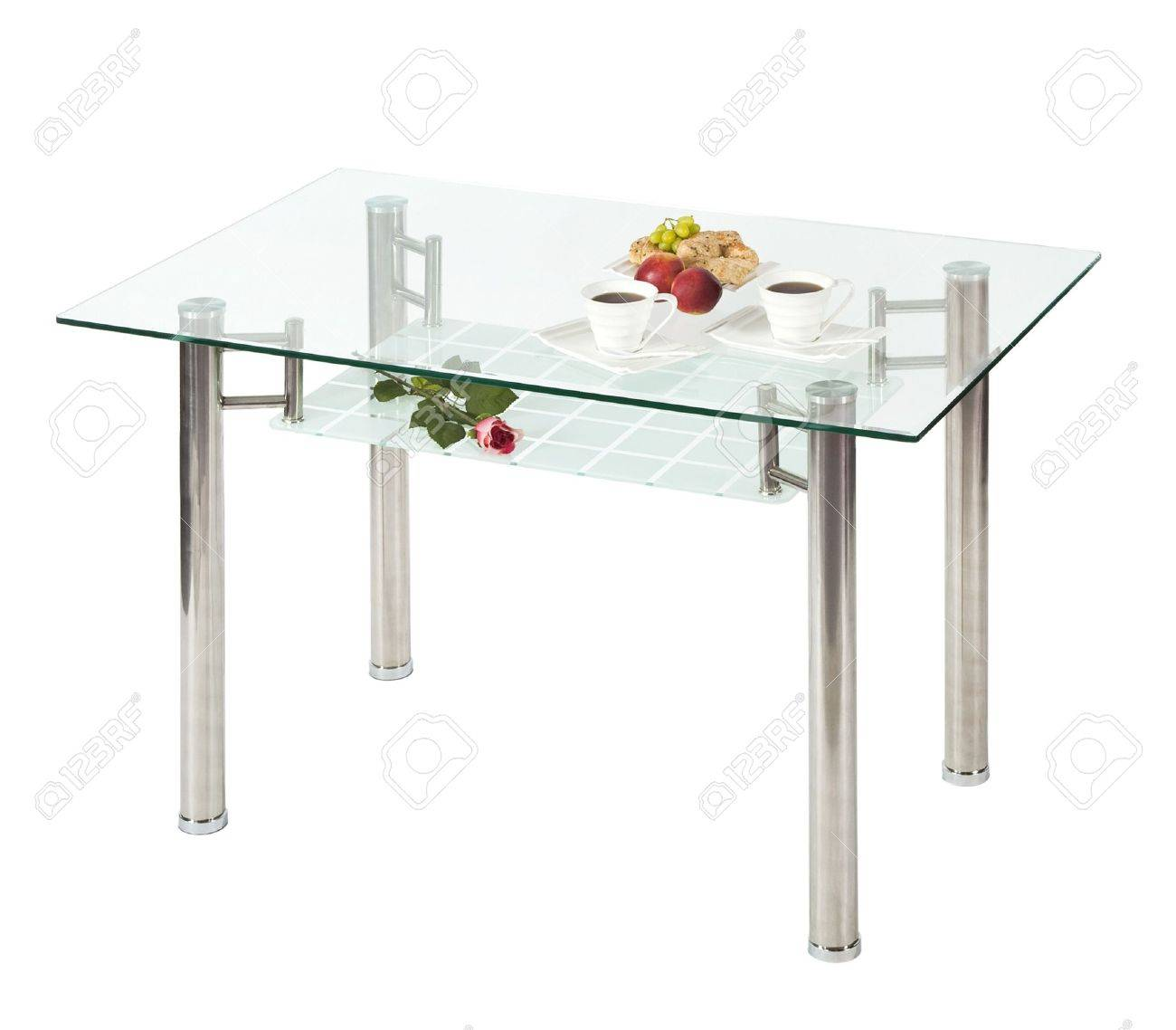 Picture of: Rectangular Glass Top Dining Table Isolated Stock Photo Picture And Royalty Free Image Image 8917687