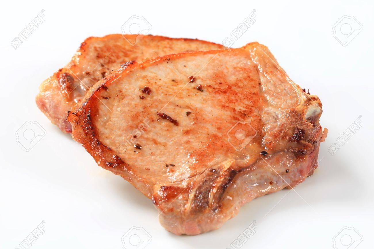 Studio Shot Of Pan Fried Pork Chop Stock Photo 15240725