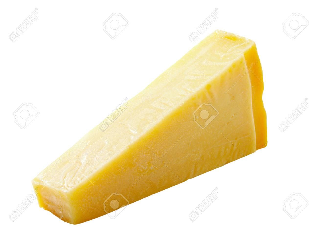 Wedge of Italian hard cheese