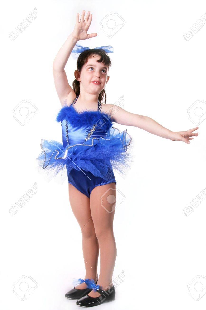 Tiny Blue Girl Dancer in TuTu Stock Photo - 297724