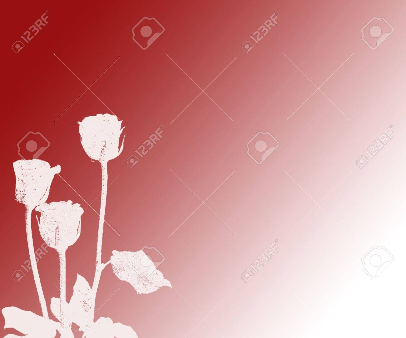 Grunge Silhouette Floral Background With Copy Space Stock Photo - 344801
