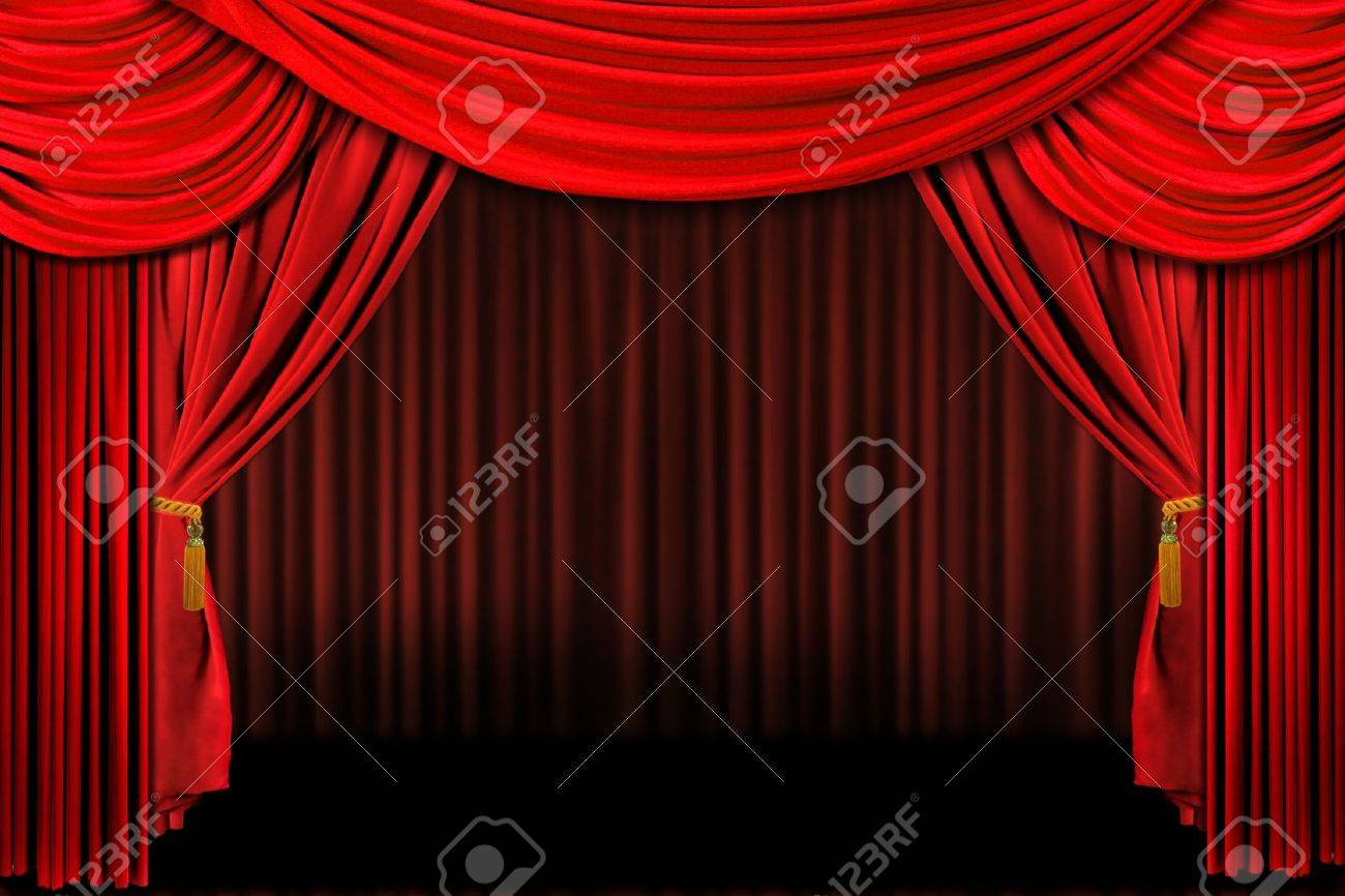 Stage curtain background open stage curtains background red stage - Multiple Red Layered Stage Theater Drape Background Stock Photo 1215987