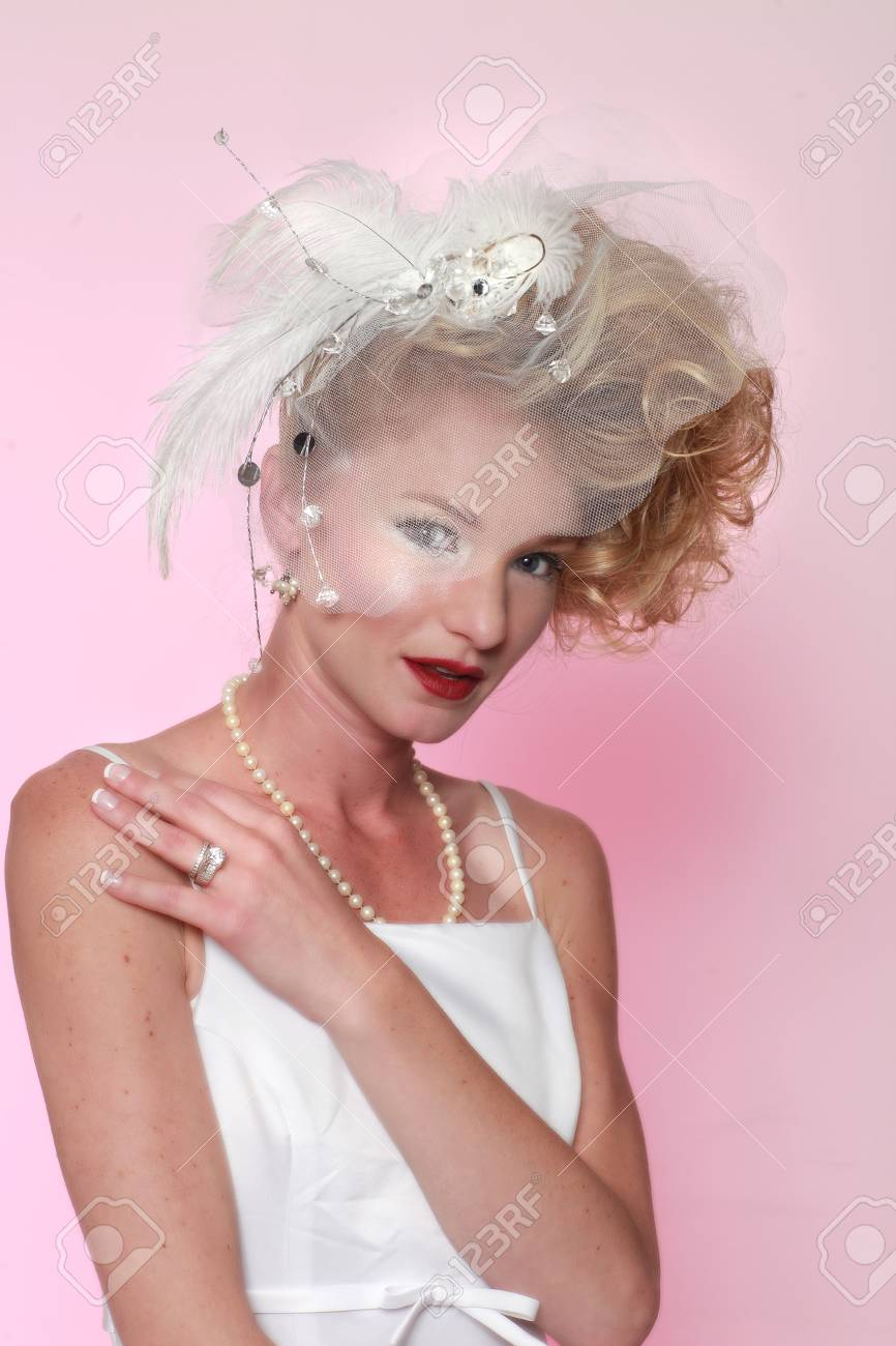 Bridal Portrait of a Young Woman Getting Married Stock Photo - 15154315