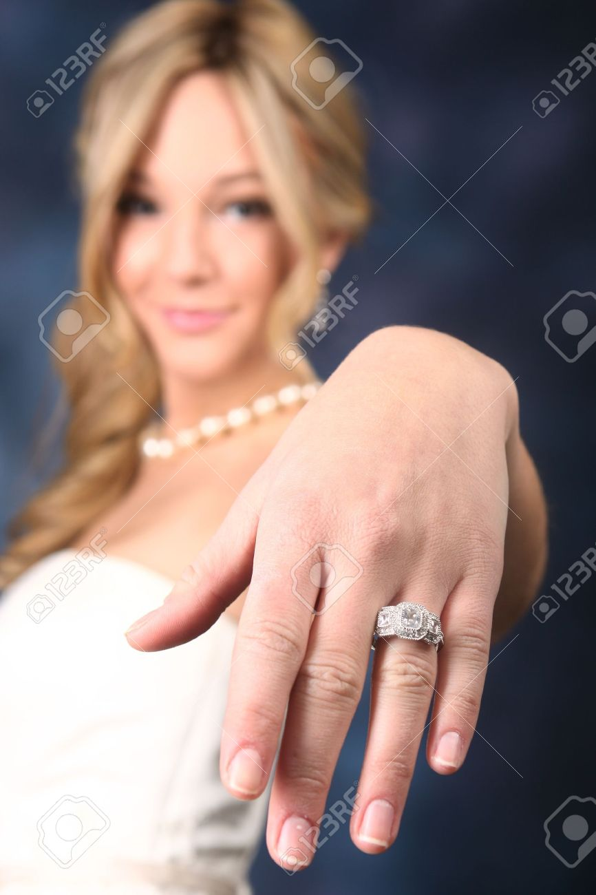 showing wedding ring