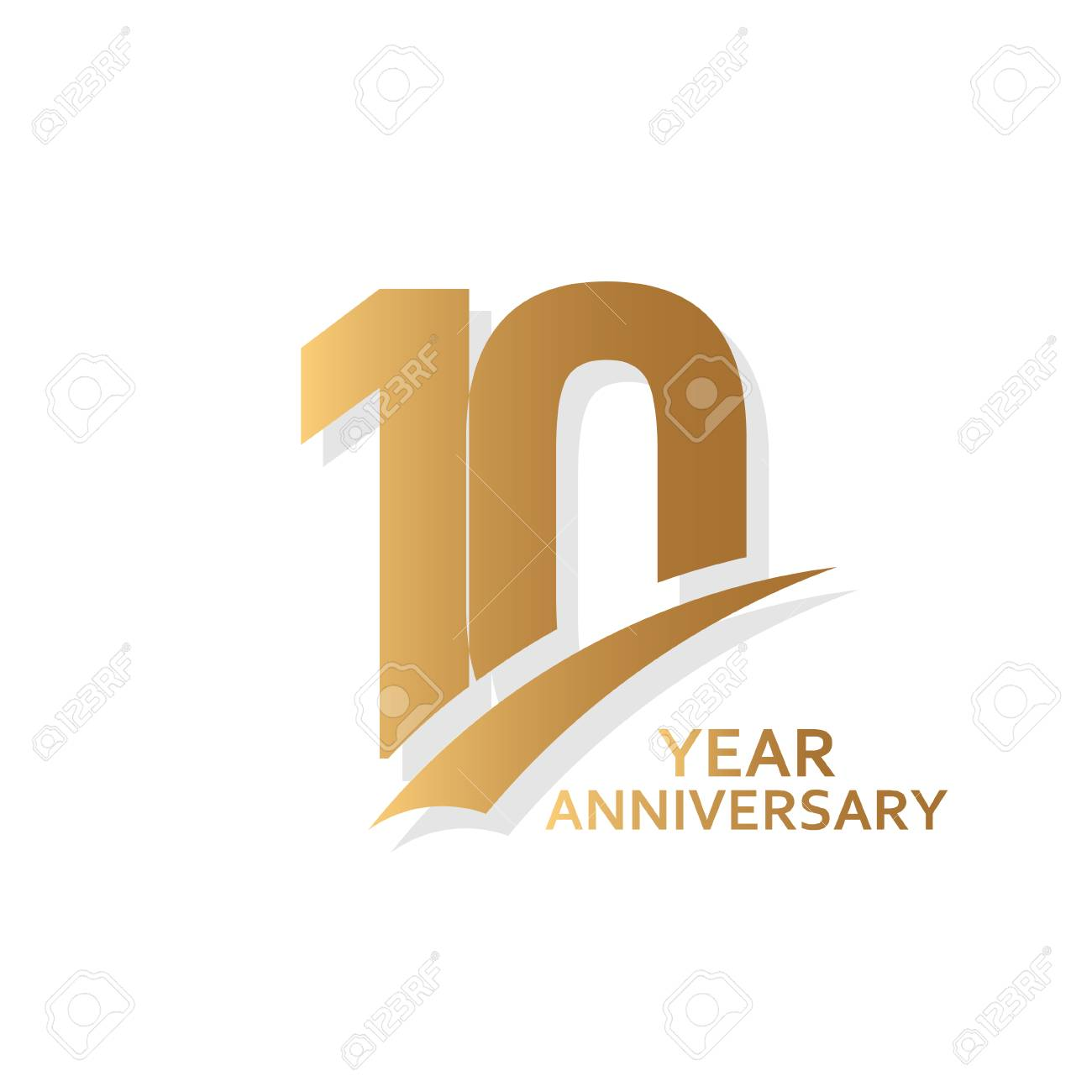 10 Year Anniversary Vector Template Design Illustration - 118887865