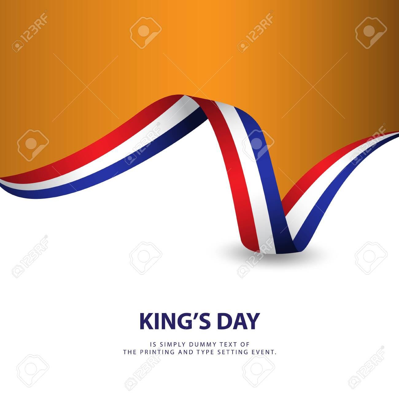 King's Day Vector Template Design Illustration - 124329807