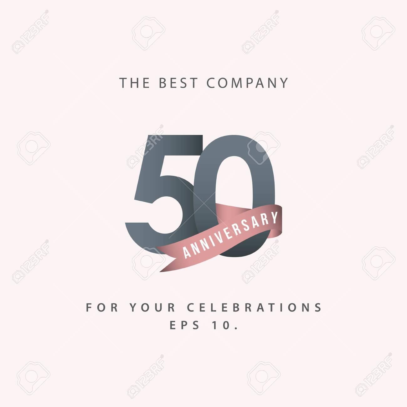 50 Year Anniversary Celebration Vector Template Design Illustration - 119205523