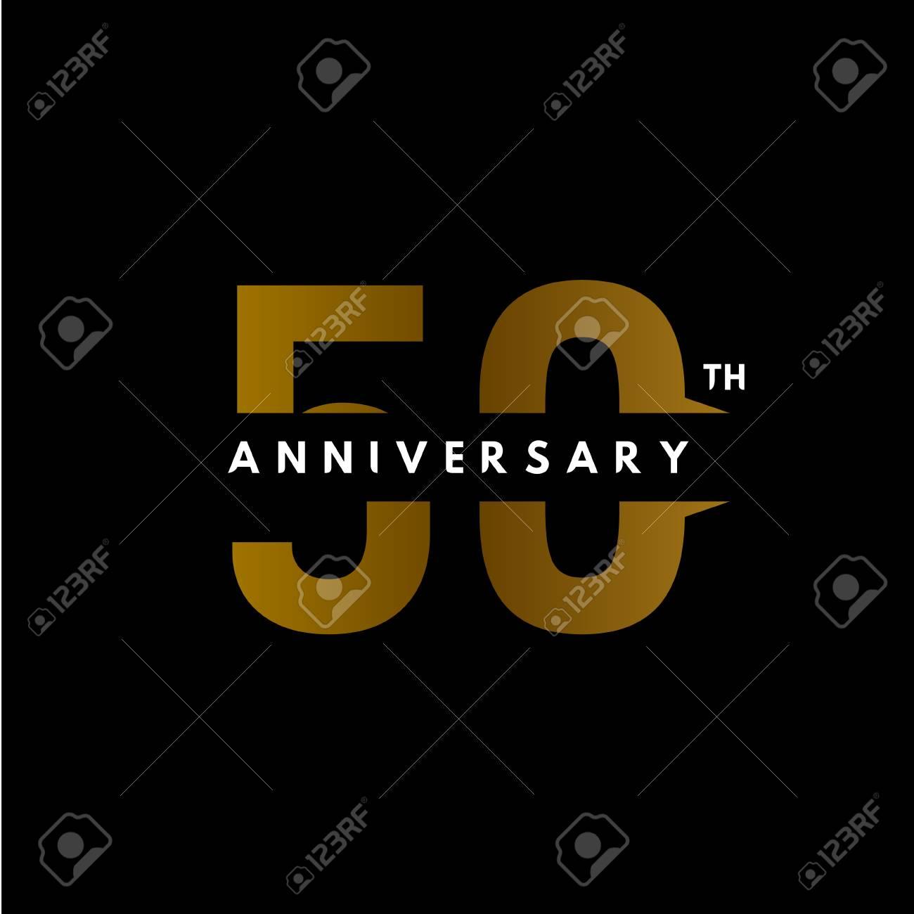 50 Year Anniversary Vector Template Design Illustration - 119205673
