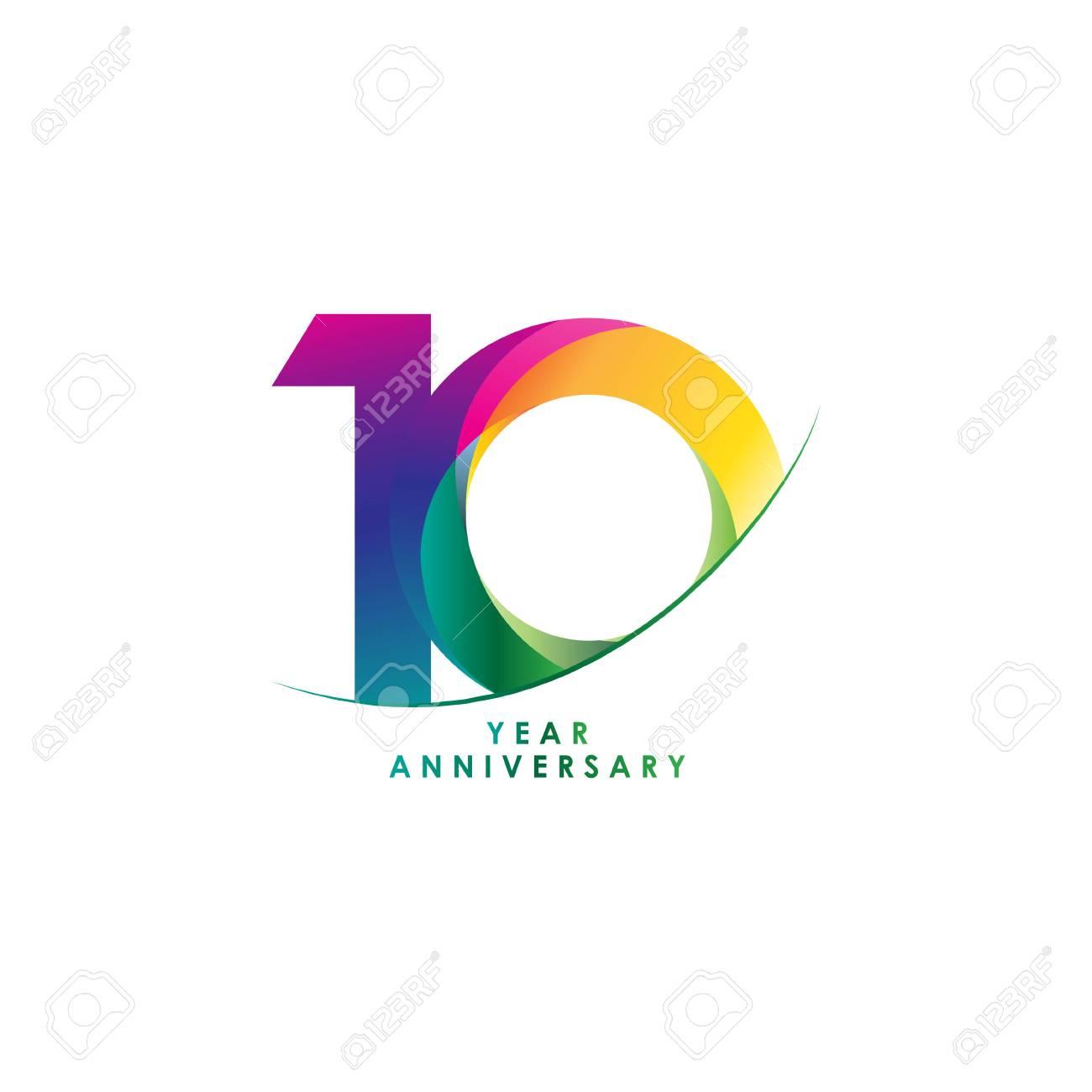 10 Year Anniversary Vector Template Design Illustration - 119227340