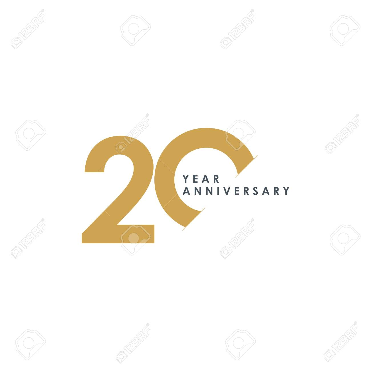 20 Year Anniversary Vector Template Design Illustration - 119347734