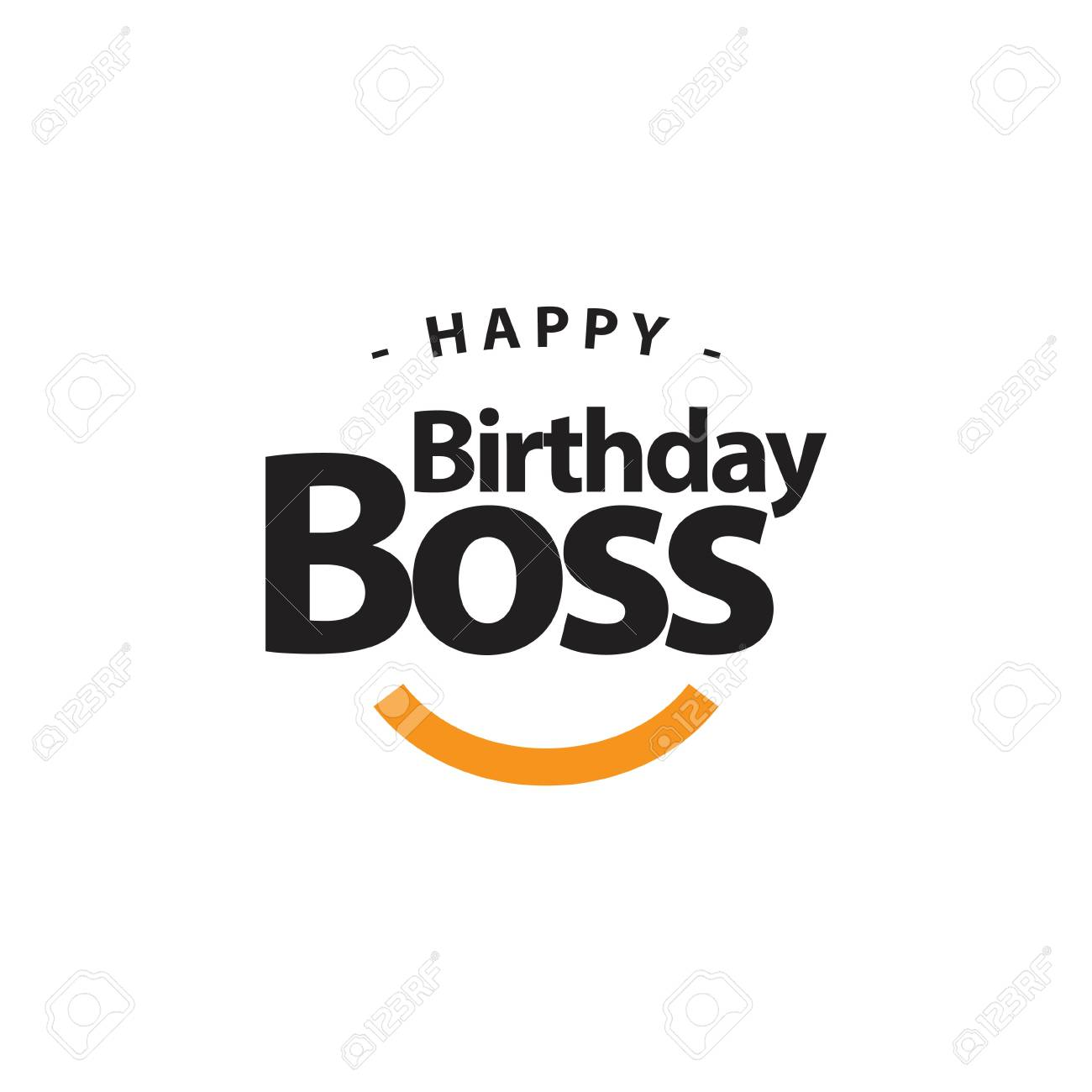 Astounding Happy Birthday Boss Vector Template Design Illustration Royalty Personalised Birthday Cards Cominlily Jamesorg