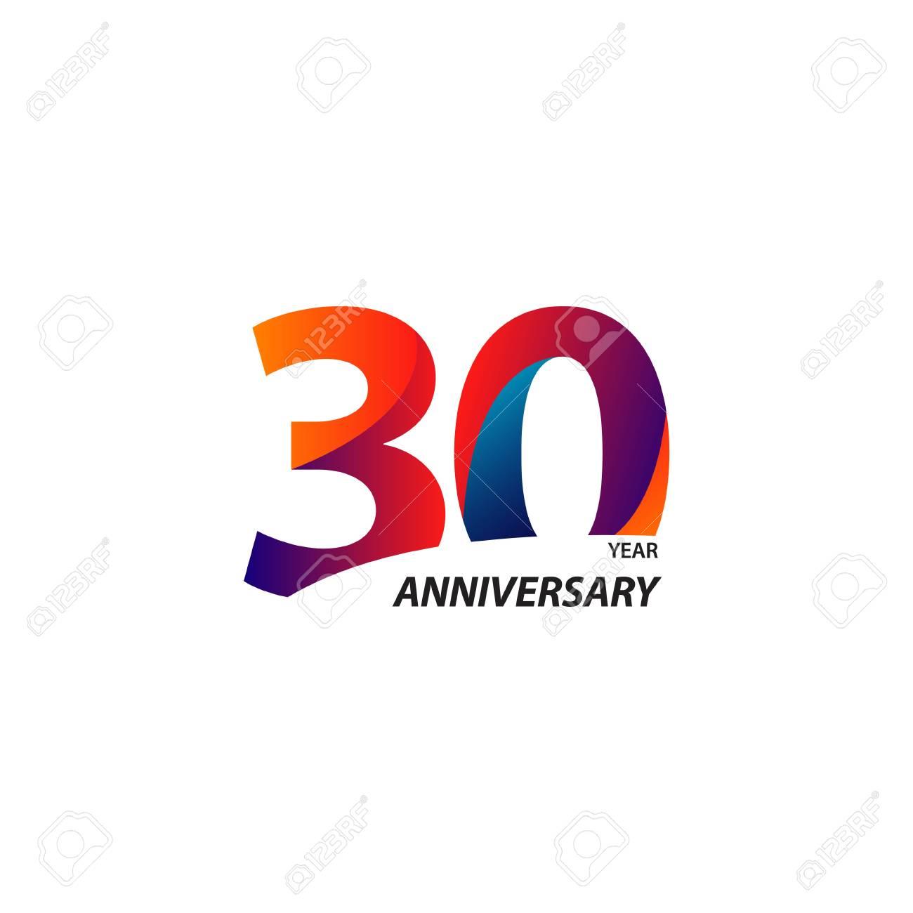 30 Year Anniversary Vector Template Design Illustration - 122327434