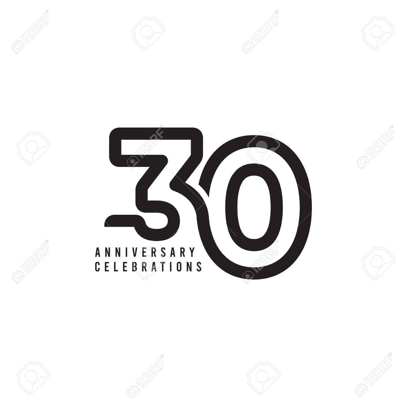30 Years Anniversary Celebrations Template Design Illustration - 136734859