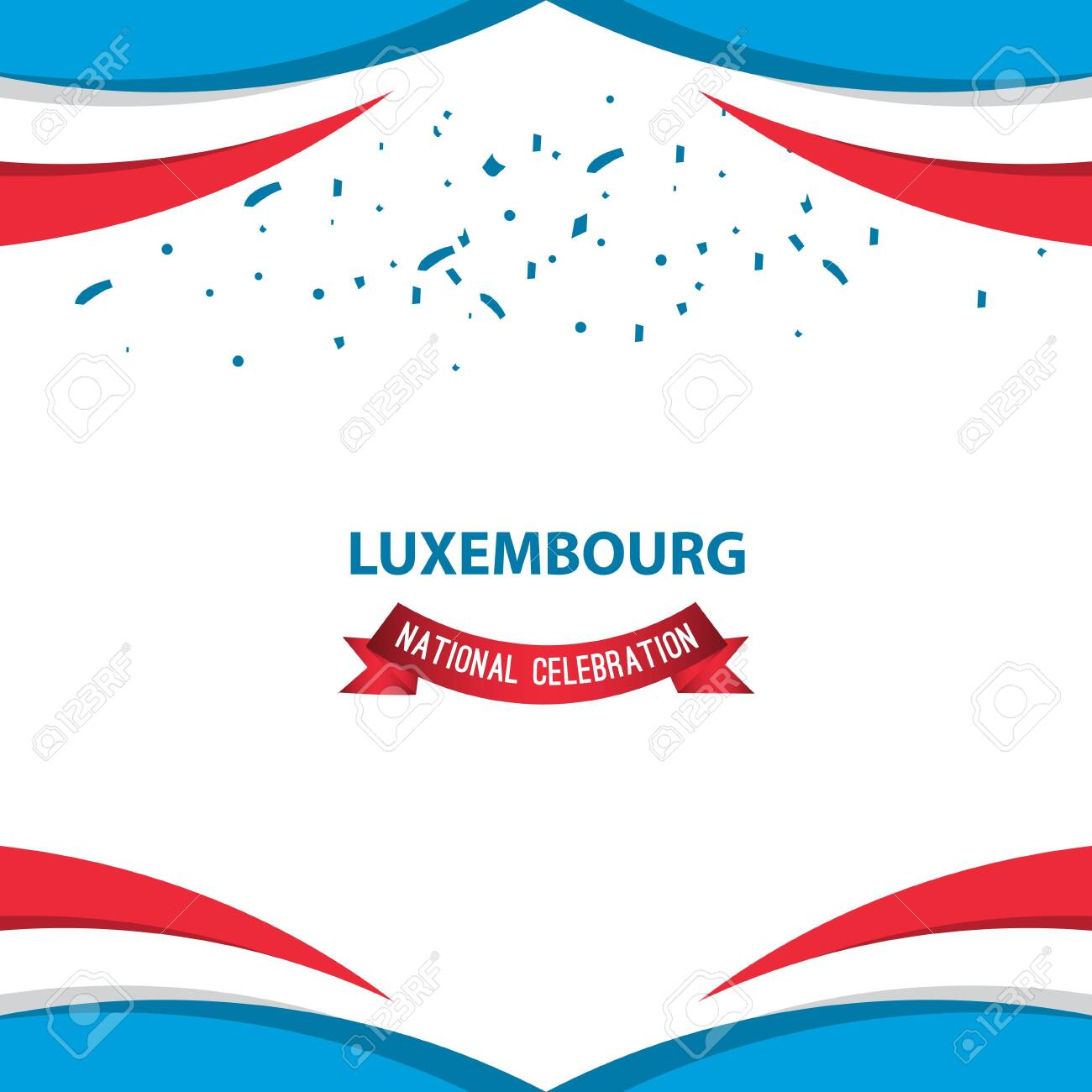Luxembourg National Celebration Poster Vector Template Design Illustration - 137047833