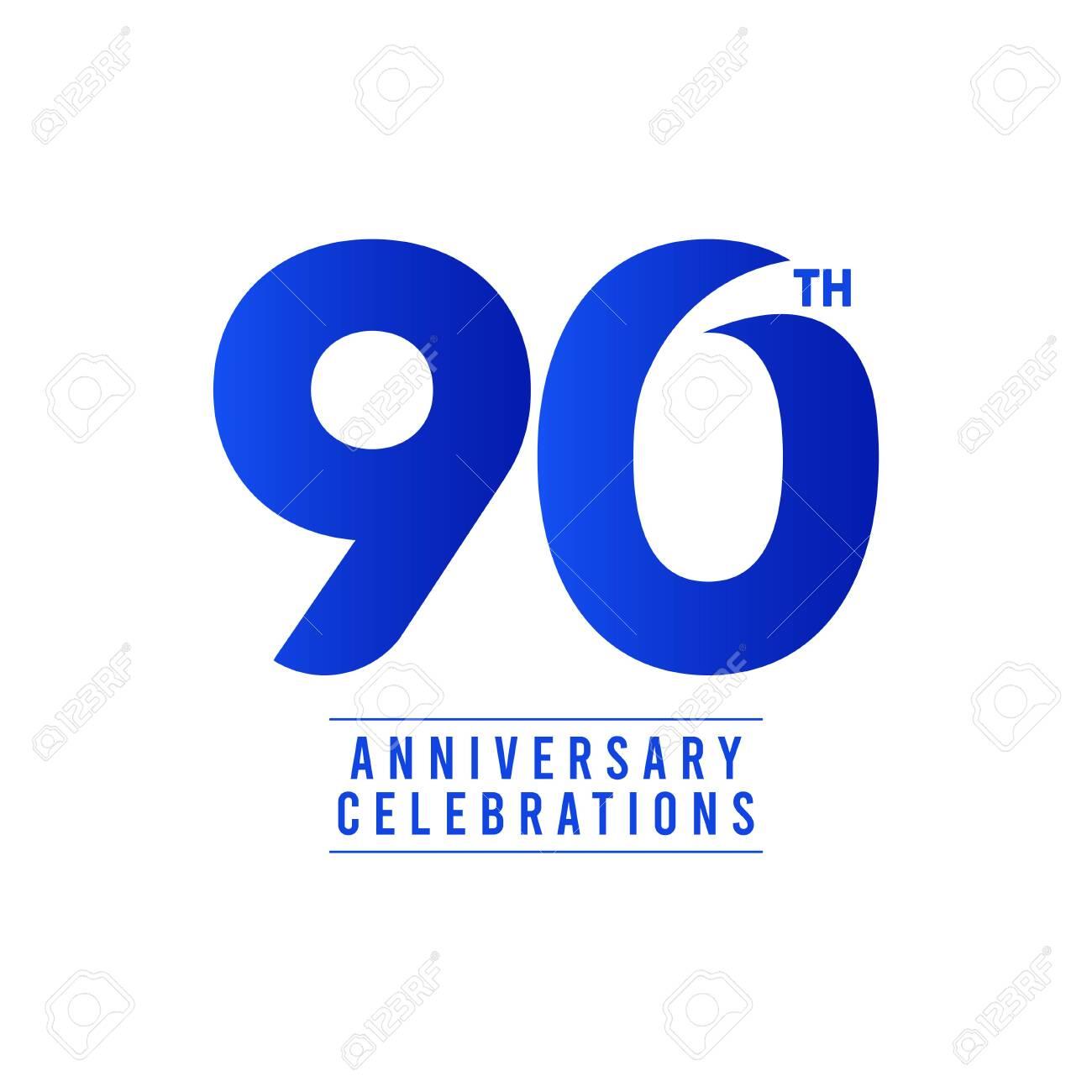 90 Th Anniversary Celebrations Vector Template Design Illustration - 140343284