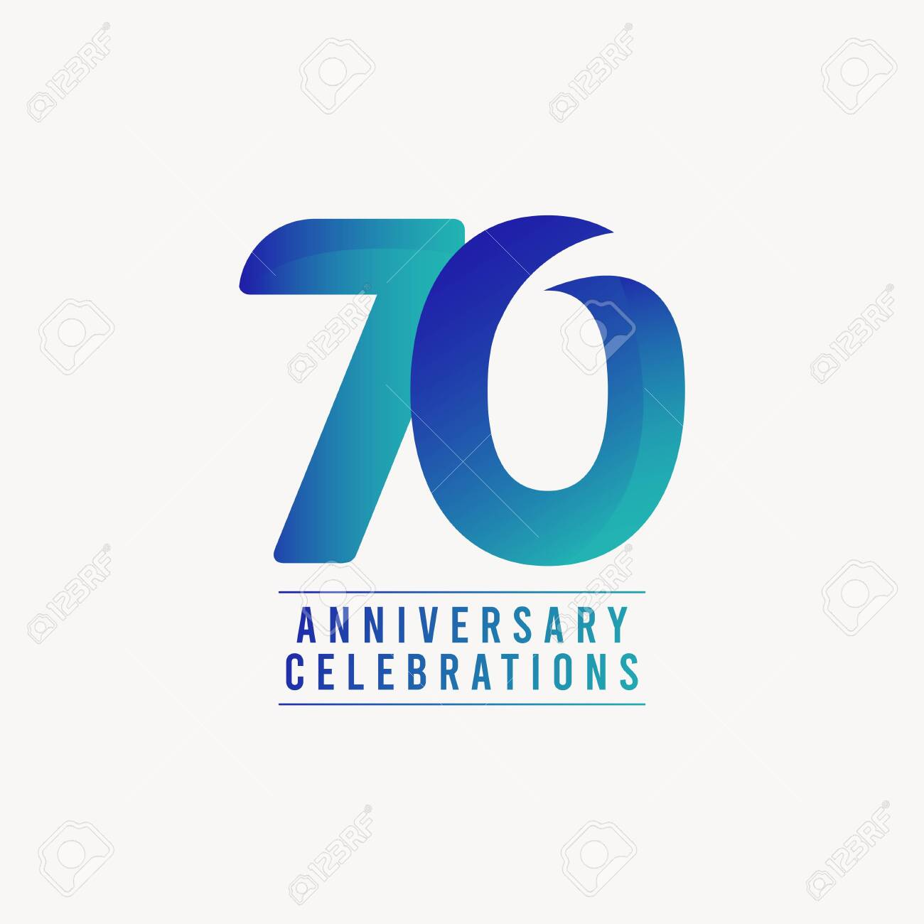 70 Years Anniversary Celebrations Vector Template Design Illustration - 140343359