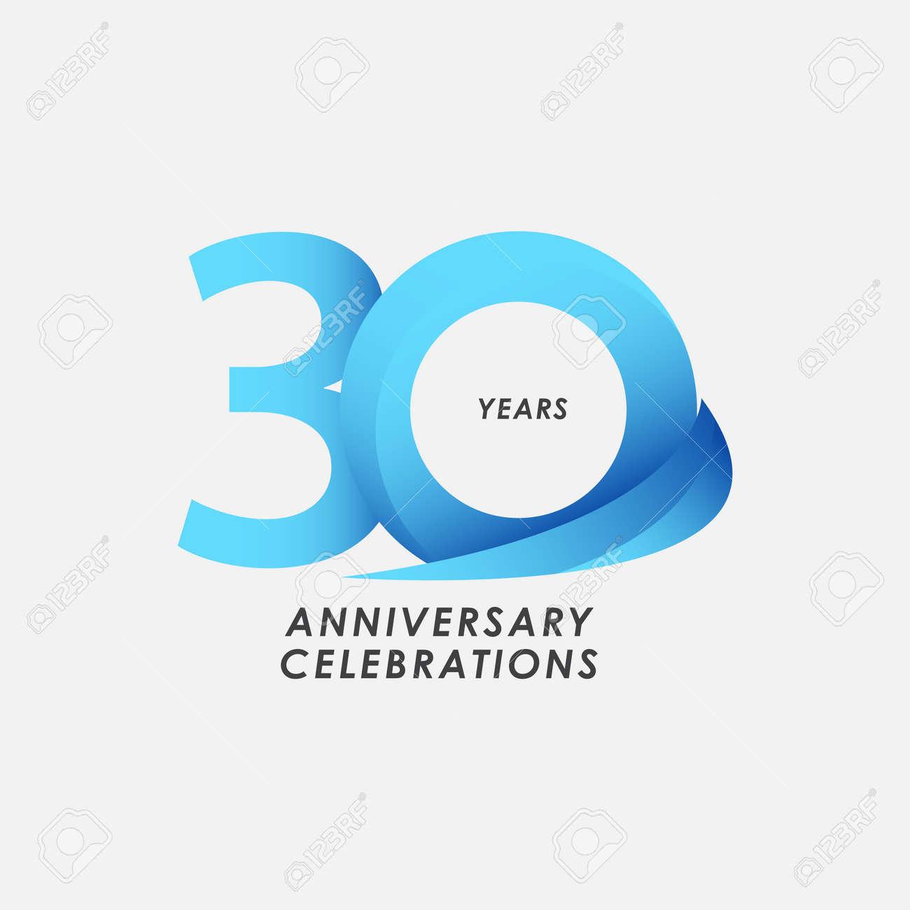 30 Years Anniversary Celebrations Vector Template Design Illustration - 163697966