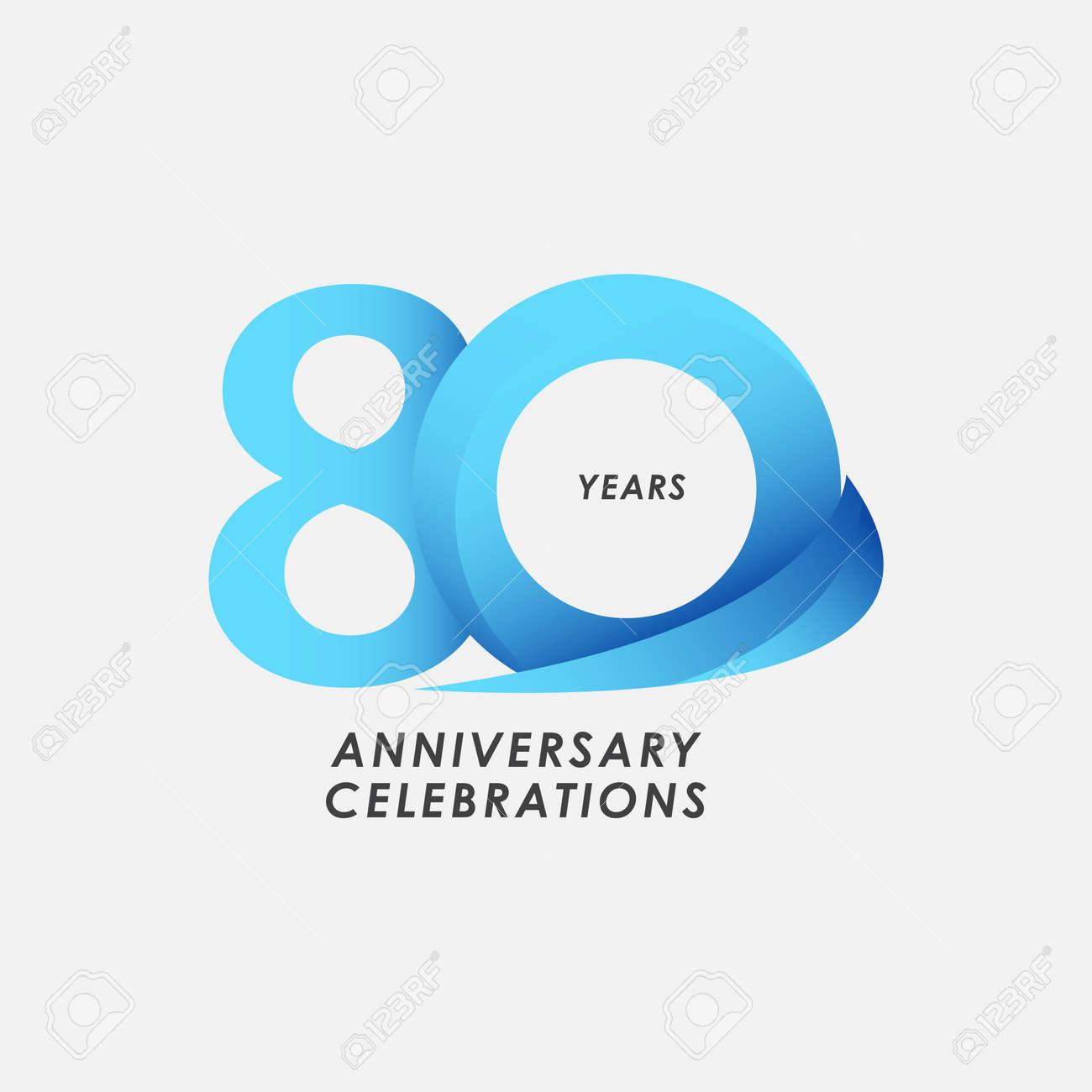 80 Years Anniversary Celebrations Vector Template Design Illustration - 163697979