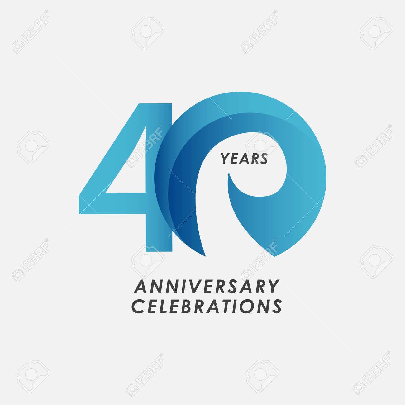 40 Years Anniversary Celebrations Vector Template Design Illustration - 163697983