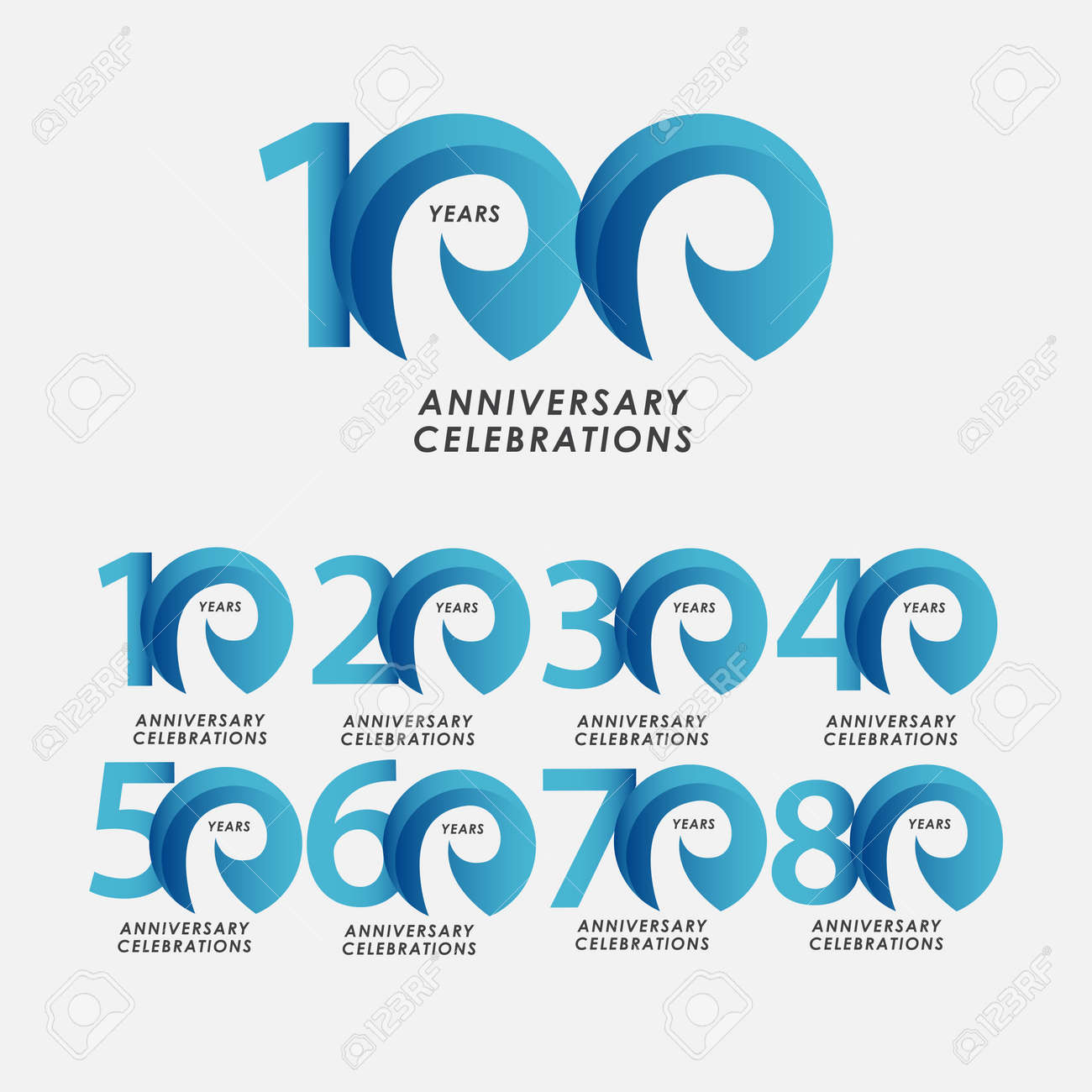 100 Years Anniversary Celebrations Vector Template Design Illustration - 163697986