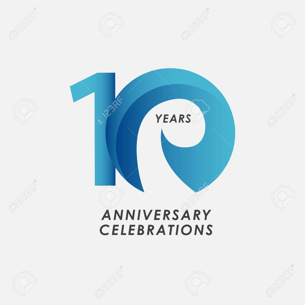 10 Years Anniversary Celebrations Vector Template Design Illustration - 163697991