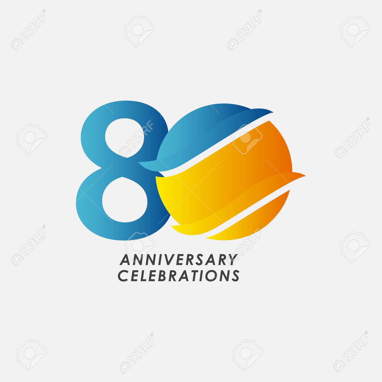 80 Years Anniversary Celebrations Vector Template Design Illustration - 163697992
