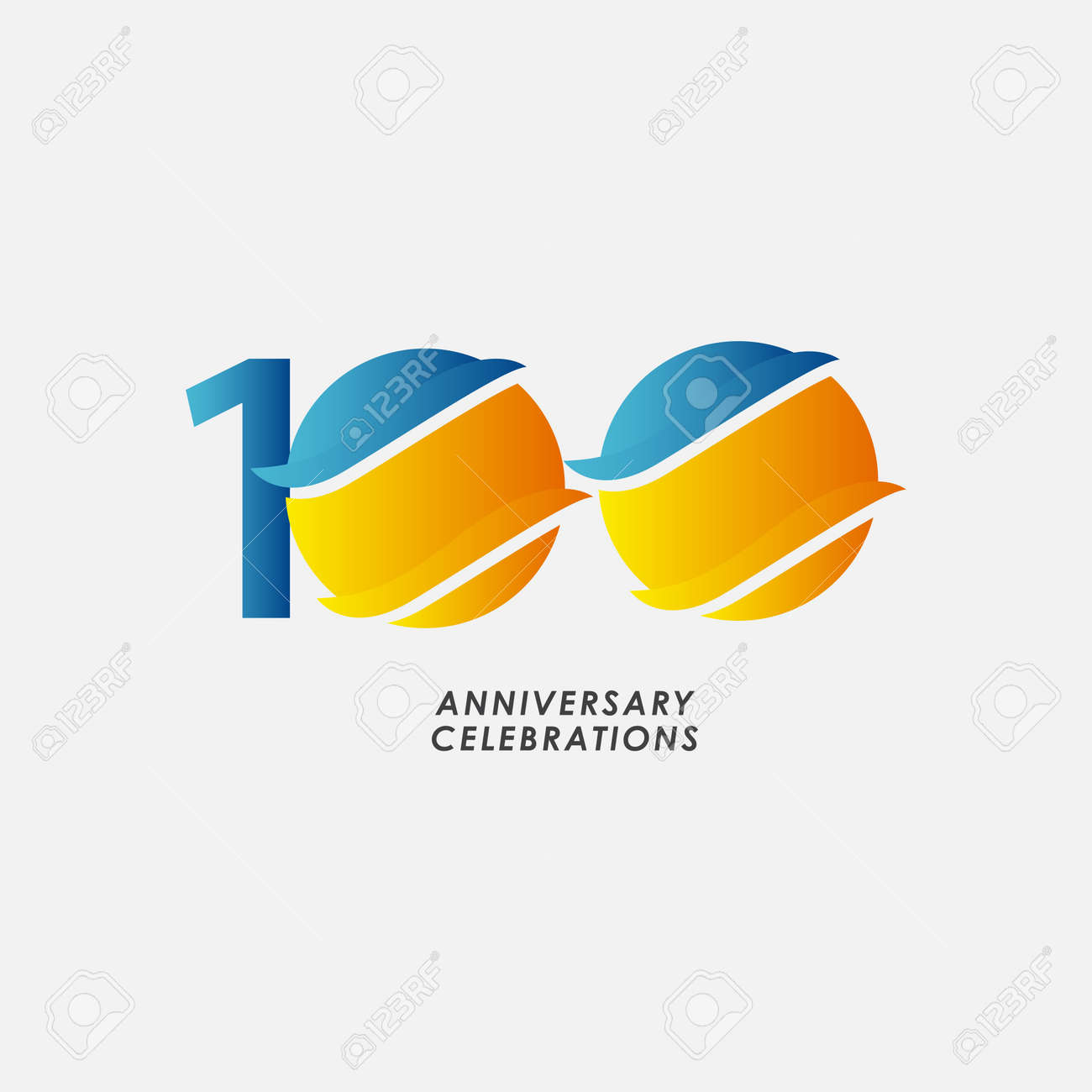 100 Years Anniversary Celebrations Vector Template Design Illustration - 163698029