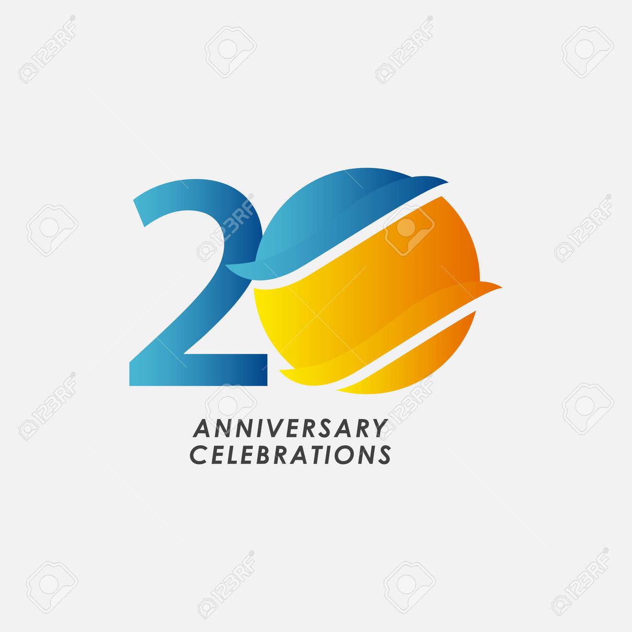20 Years Anniversary Celebrations Vector Template Design Illustration - 163698030