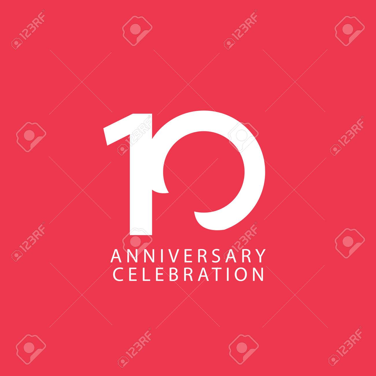 10 Years Anniversary Celebration Vector Template Design Illustration - 163698041
