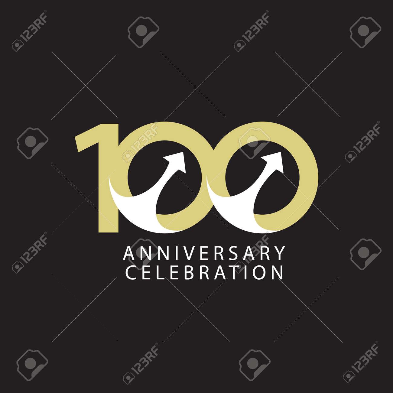 100 Years Anniversary Celebration Vector Template Design Illustration - 163698043