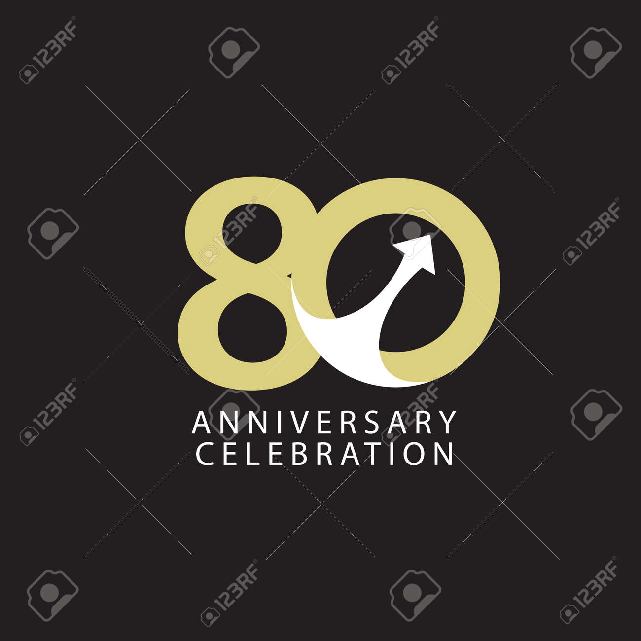 80 Years Anniversary Celebration Vector Template Design Illustration - 163698079