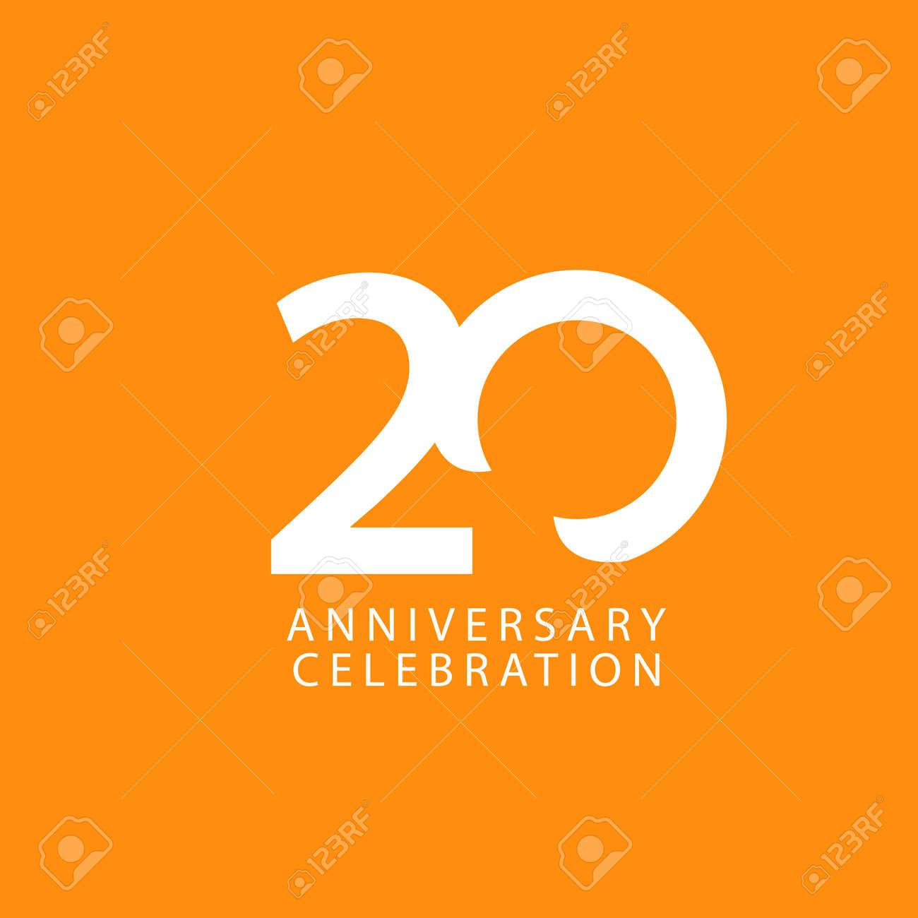 20 Years Anniversary Celebration Vector Template Design Illustration - 163698084