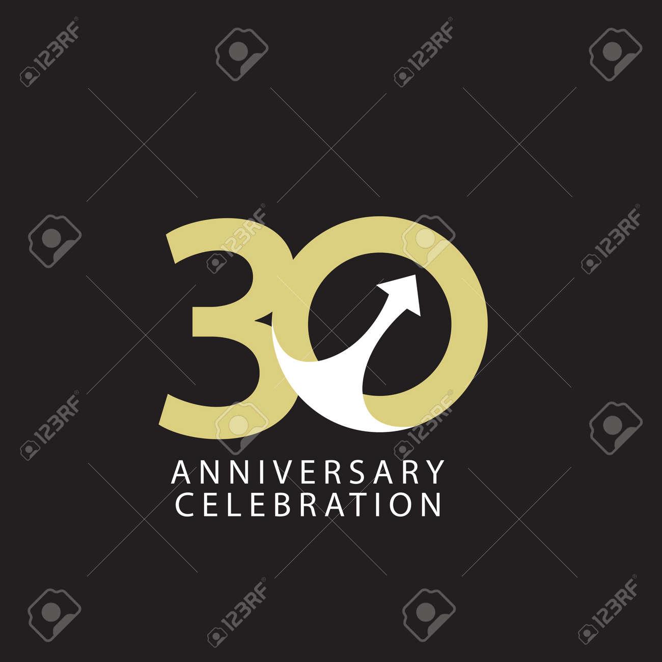 30 Years Anniversary Celebration Vector Template Design Illustration - 163698085