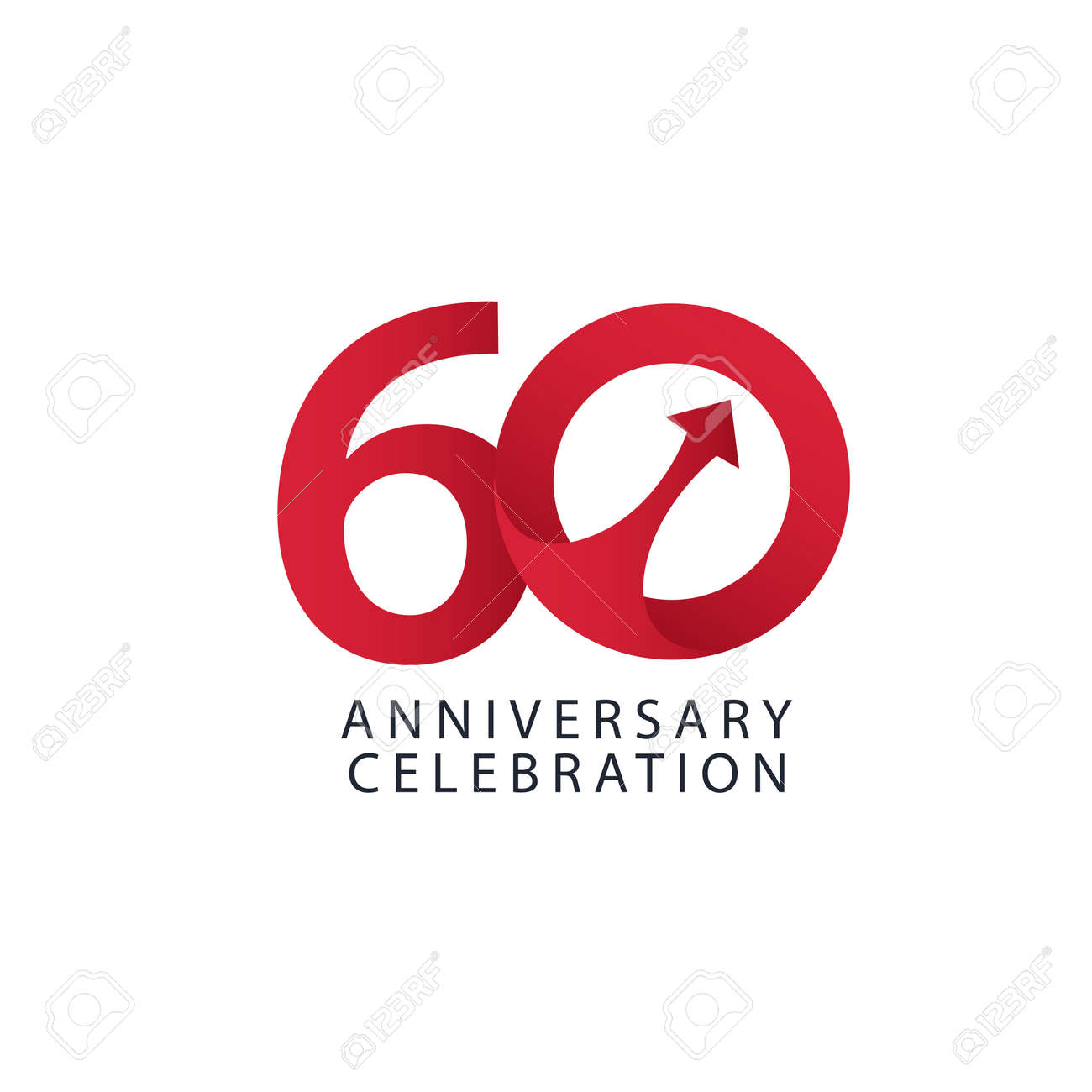 60 Years Anniversary Celebration Vector Template Design Illustration - 163698088