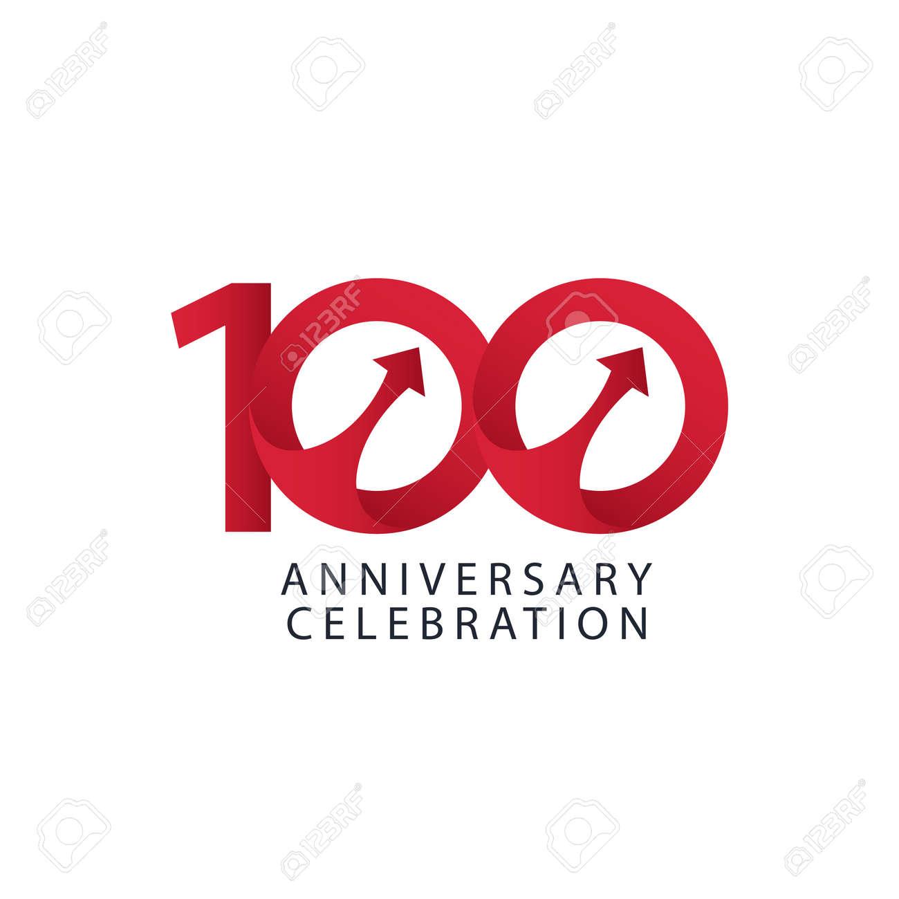 100 Years Anniversary Celebration Vector Template Design Illustration - 163698087
