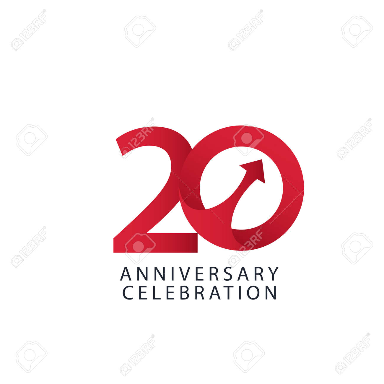 20 Years Anniversary Celebration Vector Template Design Illustration - 163698089