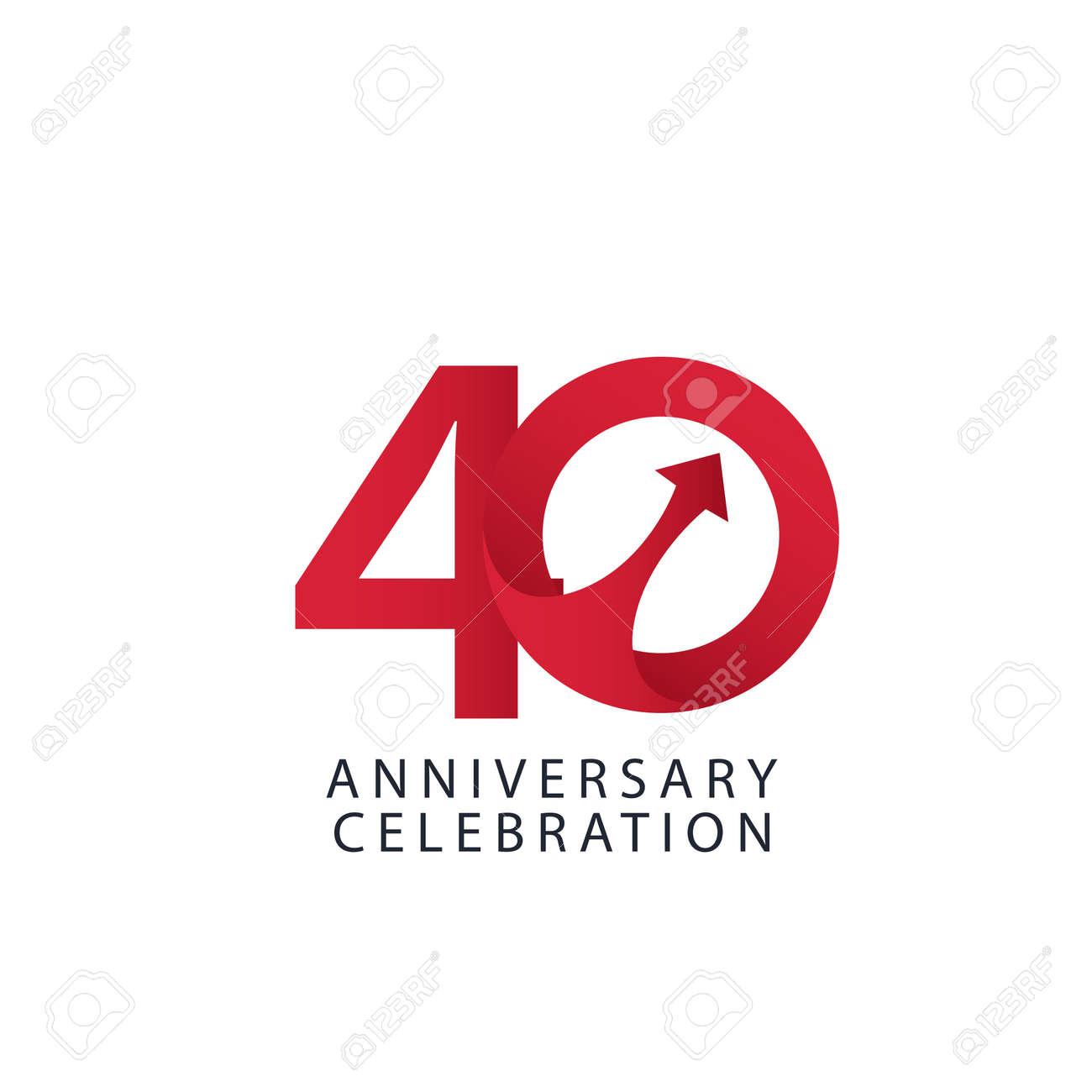 40 Years Anniversary Celebration Vector Template Design Illustration - 163698155