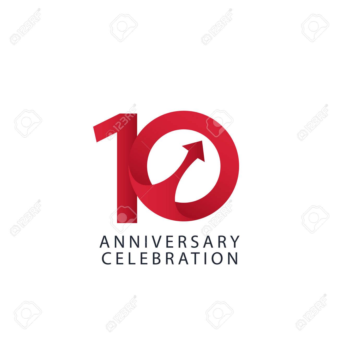 10 Years Anniversary Celebration Vector Template Design Illustration - 163698157