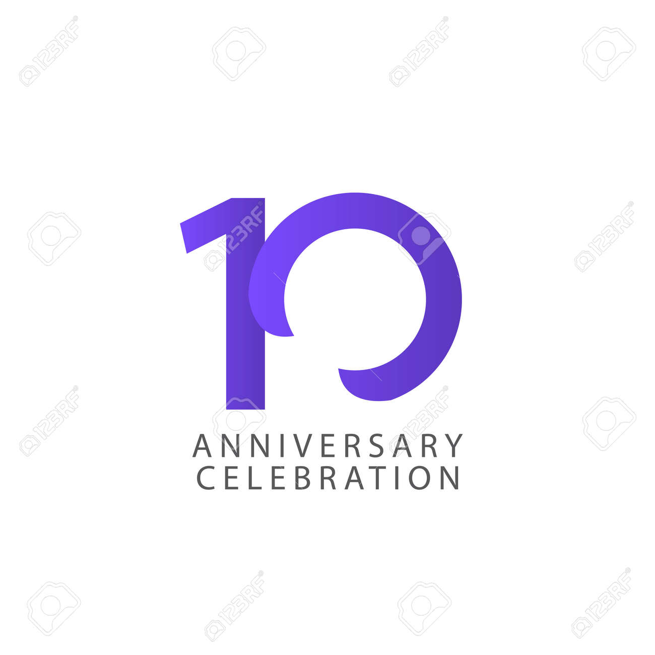 10 Years Anniversary Celebration Vector Template Design Illustration - 163698161