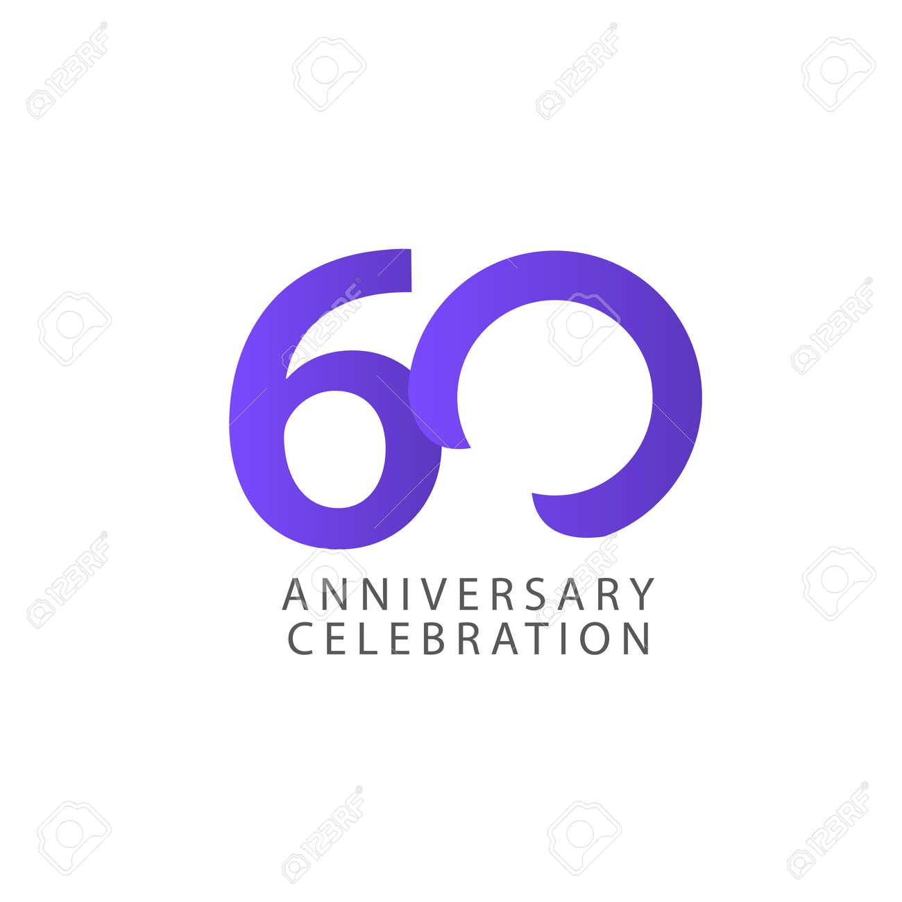 60 Years Anniversary Celebration Vector Template Design Illustration - 163698162