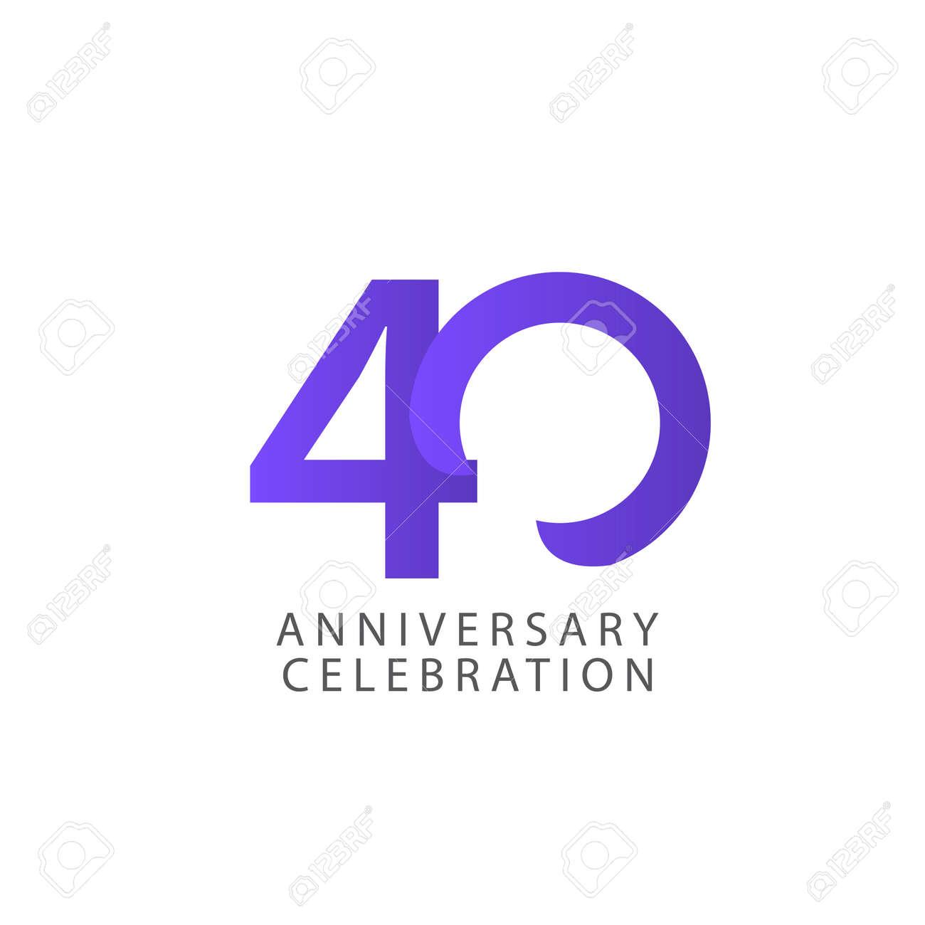 40 Years Anniversary Celebration Vector Template Design Illustration - 163698166