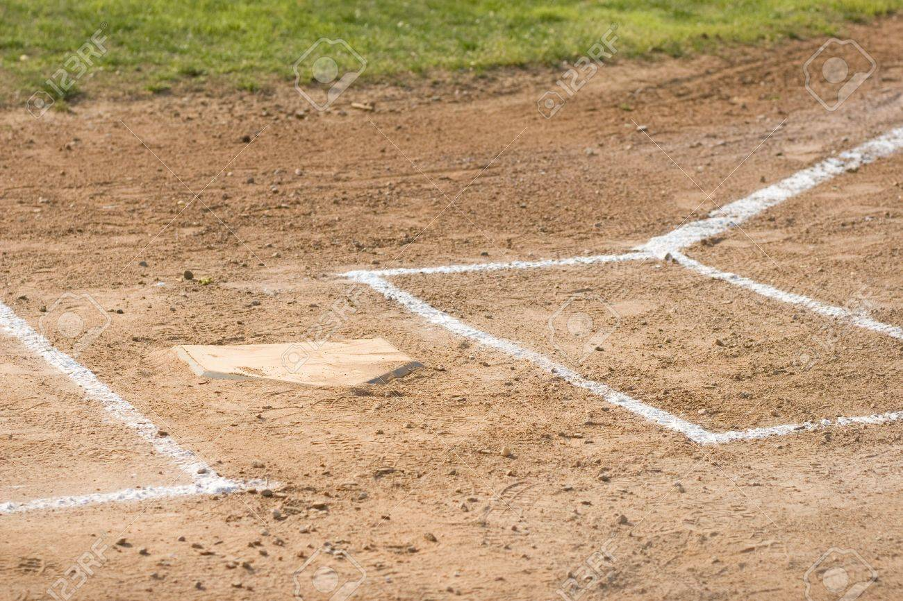home plate on a baseball field stock photo picture and royalty
