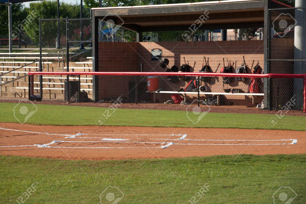 Baseball Field With Dugout Stock Photo Picture And Royalty Free