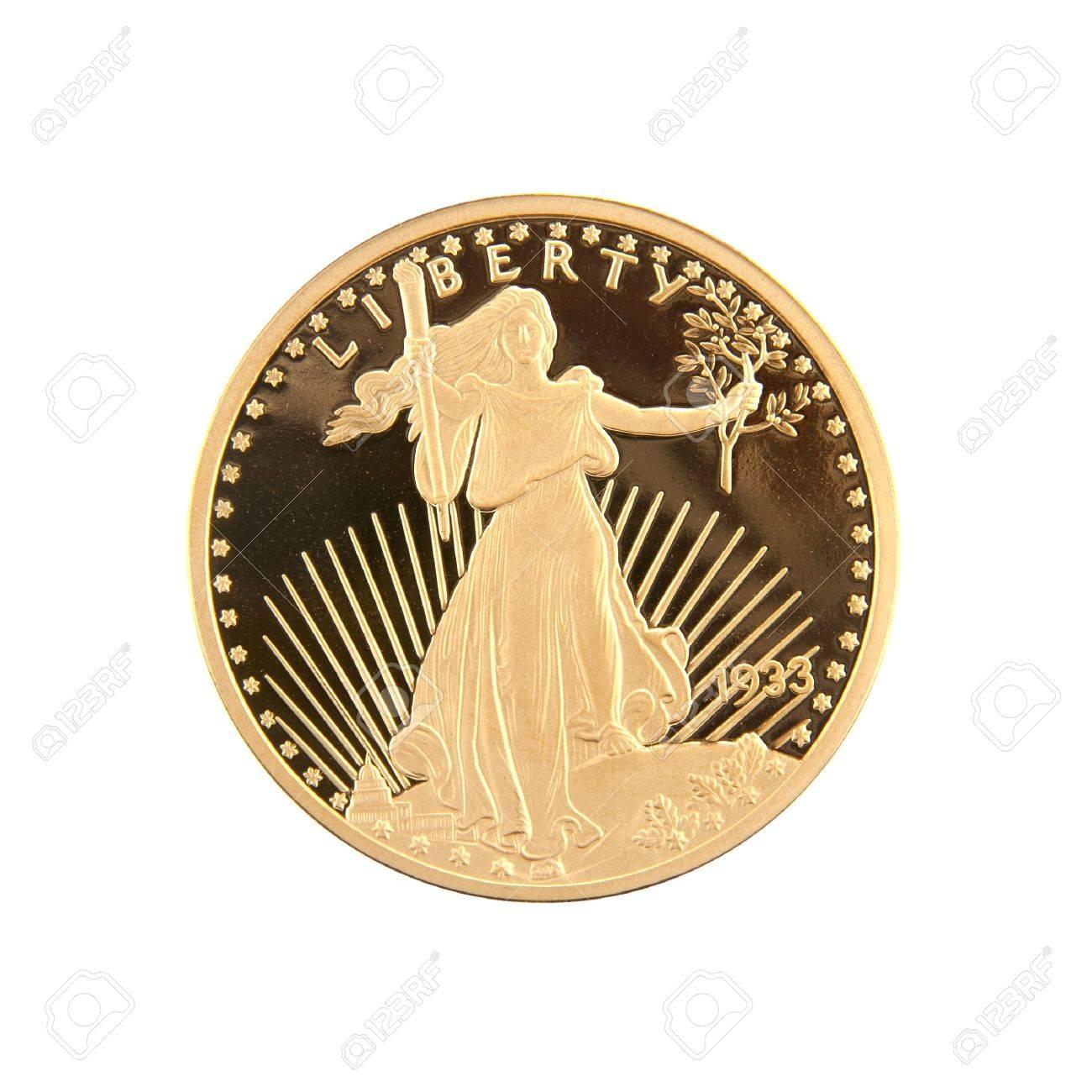 1933 Zwanzig Dollar Gold Double Eagle Münze Geprägt Von Den