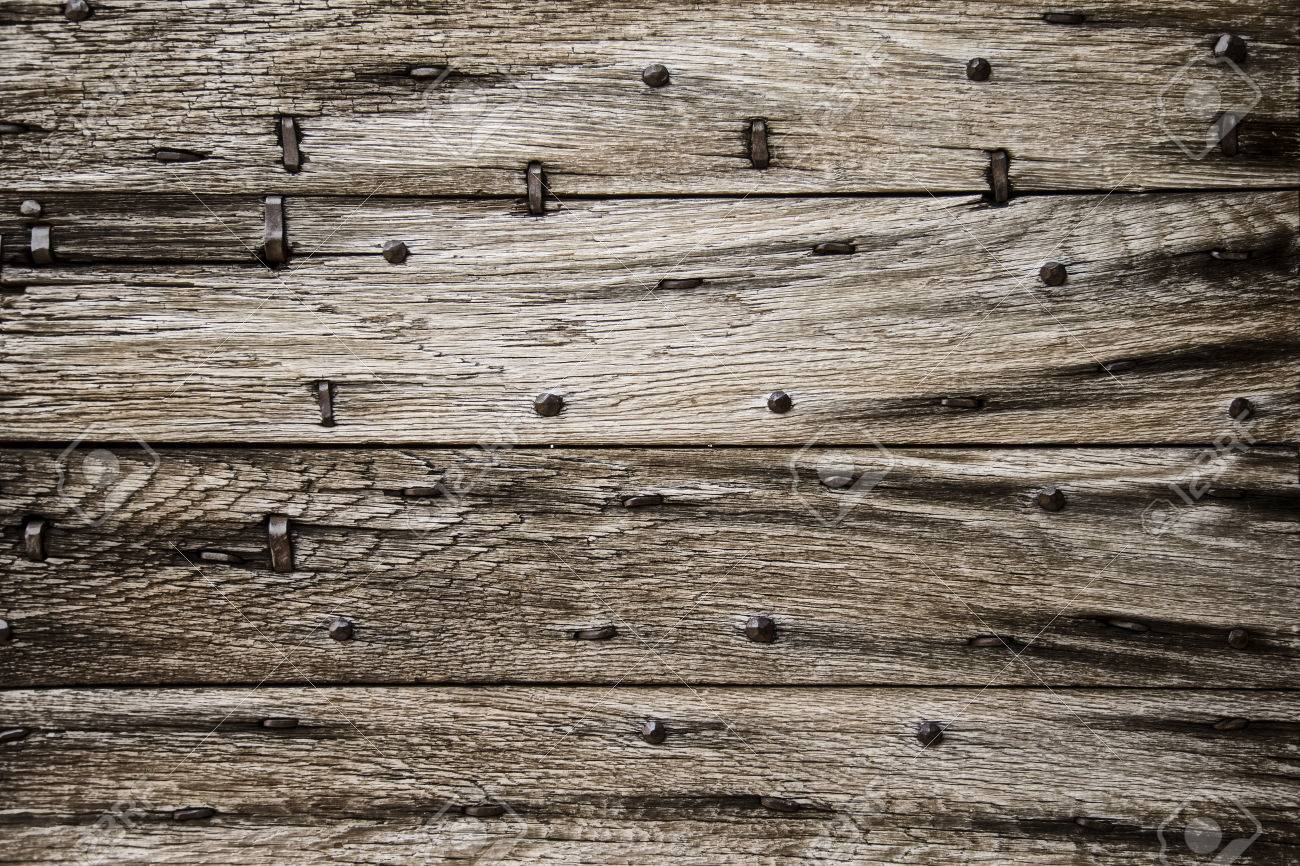 Horizontal Old Barn Door Wood Background Texture Stock Photo ...