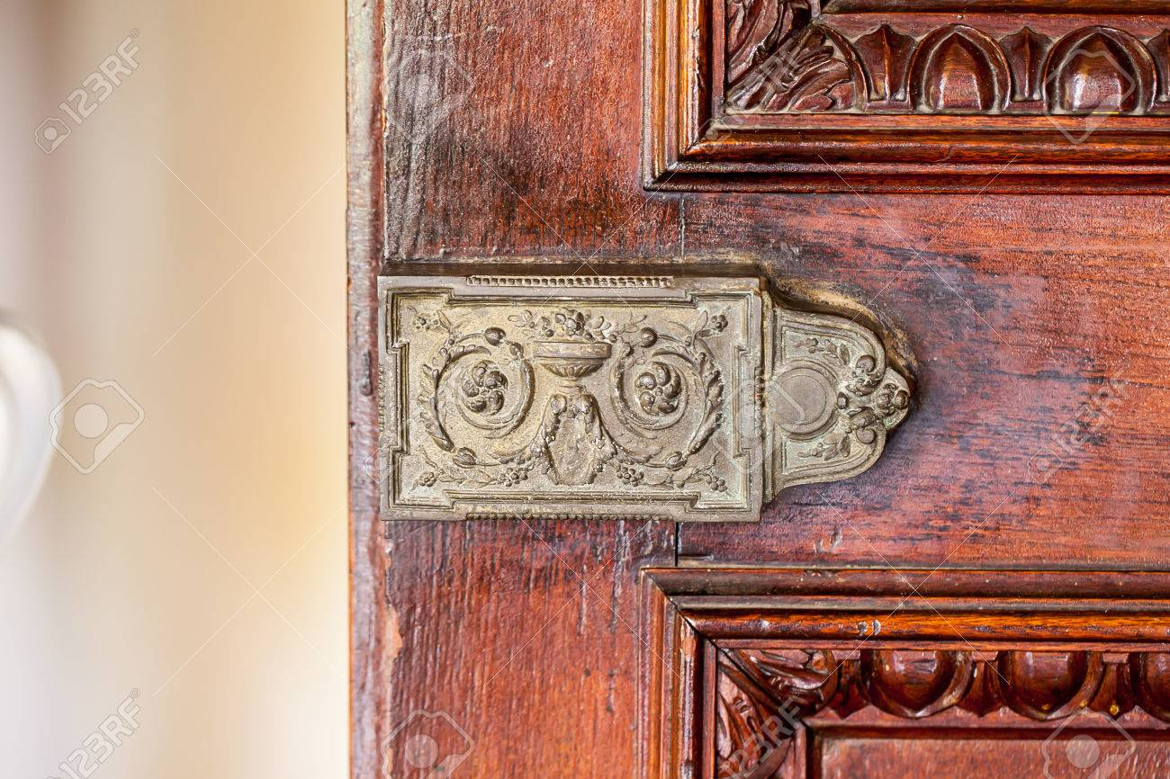 antique door bolt Stock Photo - 66359286 - Antique Door Bolt Stock Photo, Picture And Royalty Free Image. Image
