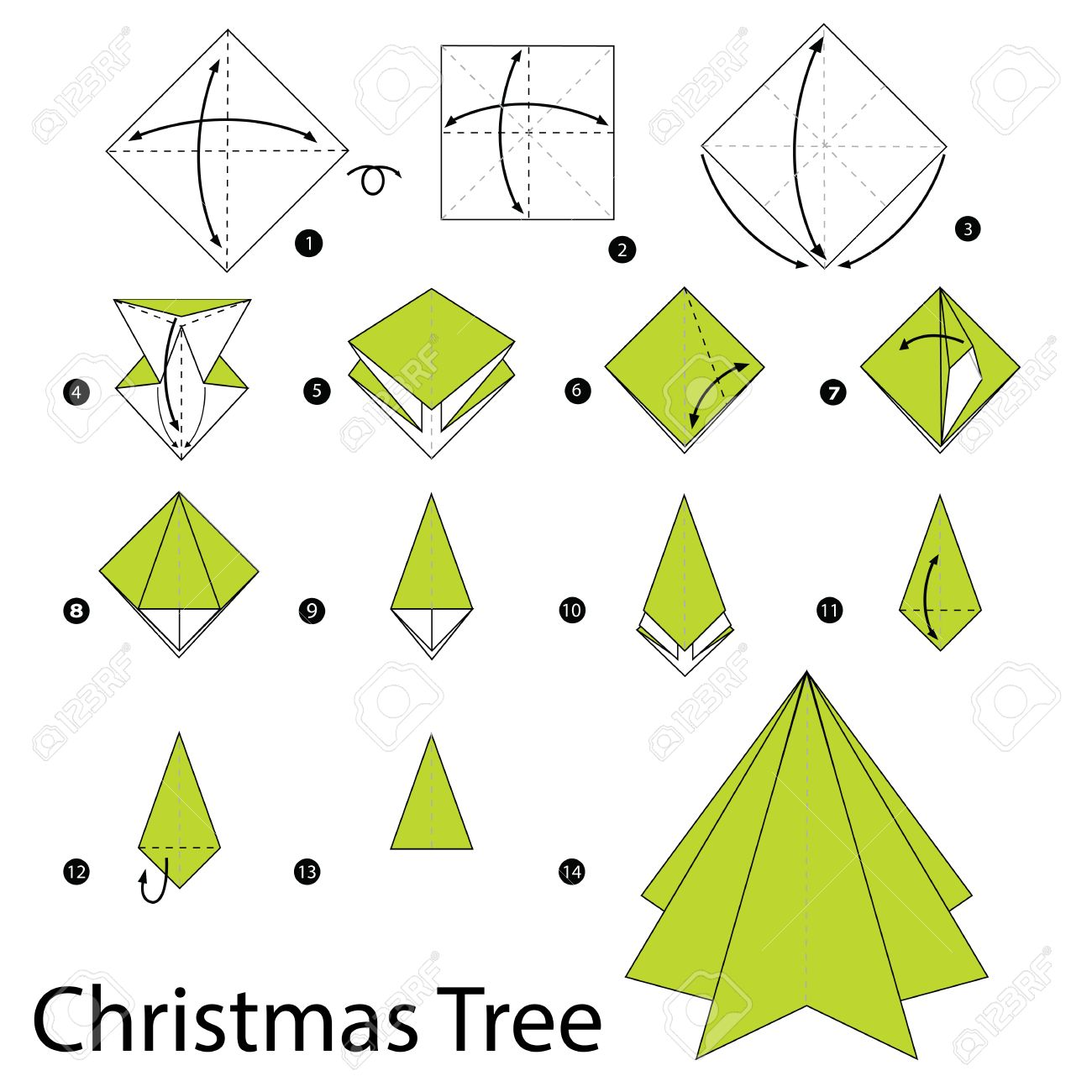 Craft ideas. Master class christmas tree in the origami.